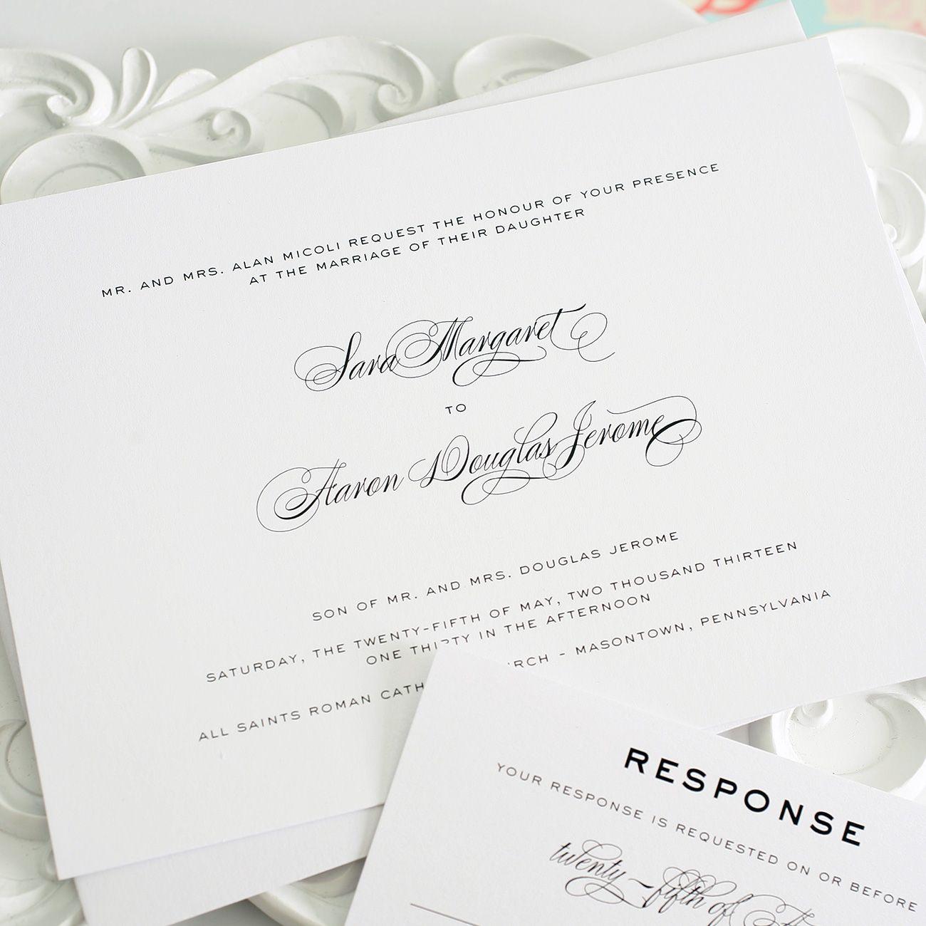 White Wedding Inspiration   Traditional wedding invitations ...