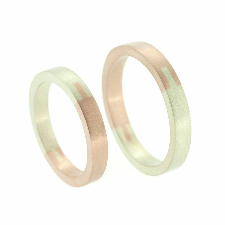Jeanne Marell 18ct Gold Dovetail Wedding Bands Buy Now httpwww