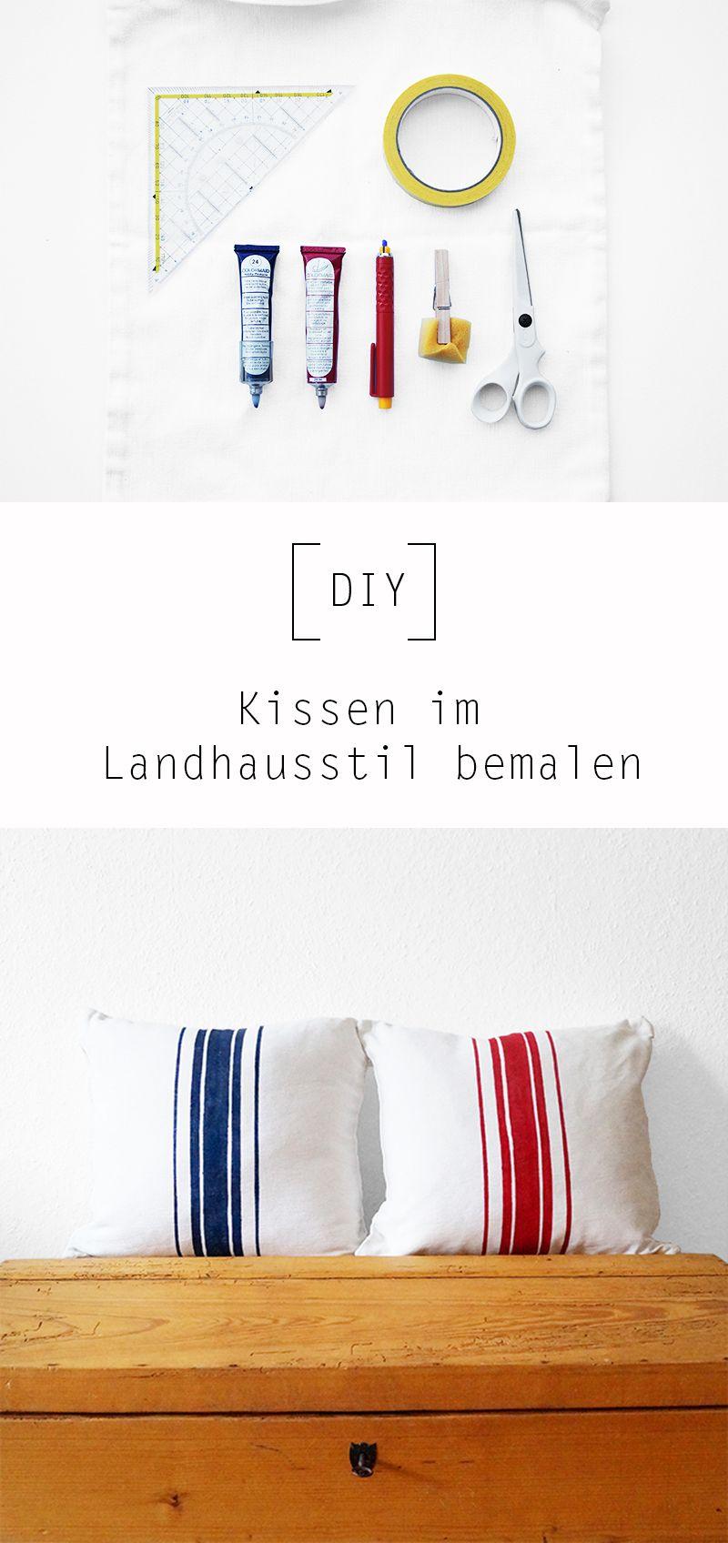 Inspirierend Kissen Bemalen Beste Wahl Im Stil By Nur Noch - Diy