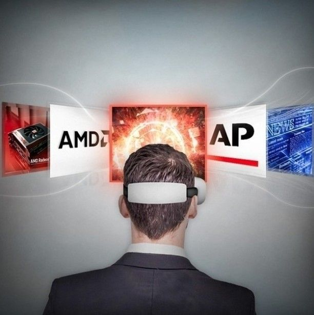 An awesome Virtual Reality pic! #AMD together with the