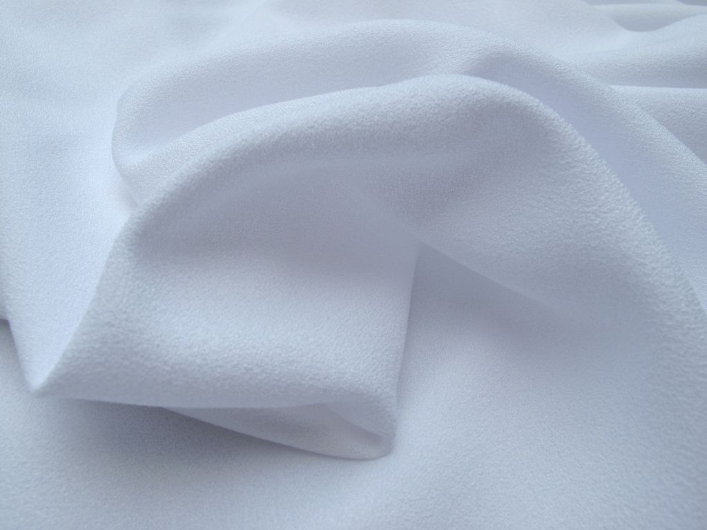 Premiere Crepe - White dress fabric
