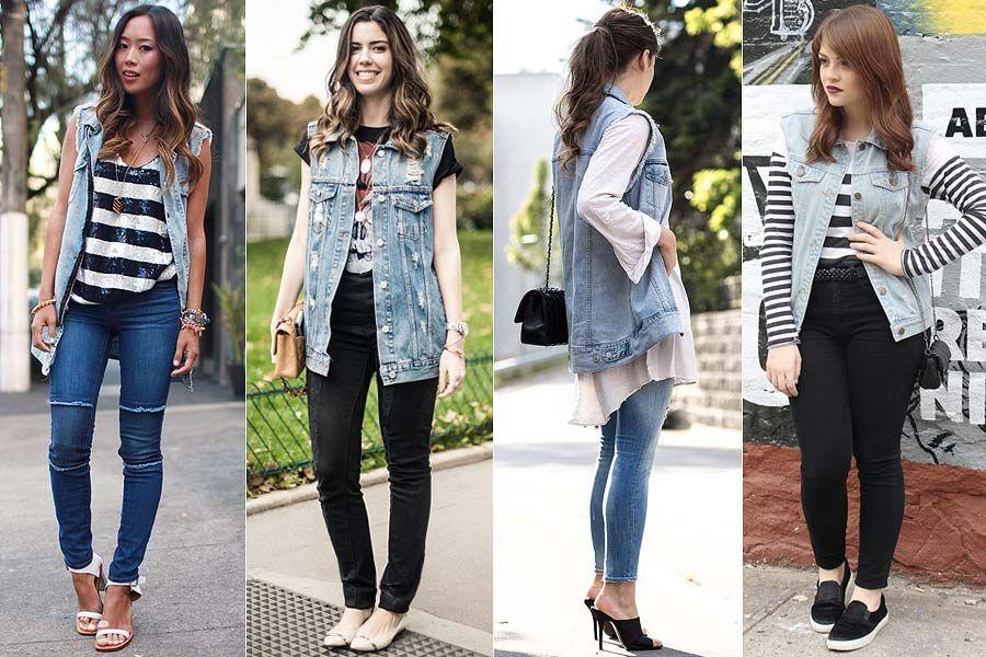 85acc6484 Como usar  Colete jeans