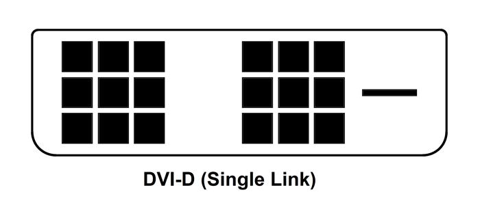 Dvi D Single Link Pinout Dvi Connector Tech Company Logos