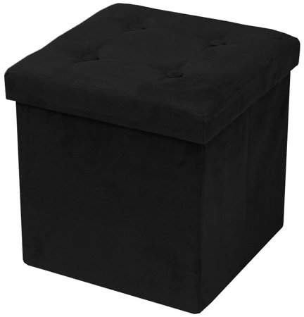 Enjoyable Sorbus Faux Suede Storage Ottoman Cube Foldable Collapsible Inzonedesignstudio Interior Chair Design Inzonedesignstudiocom