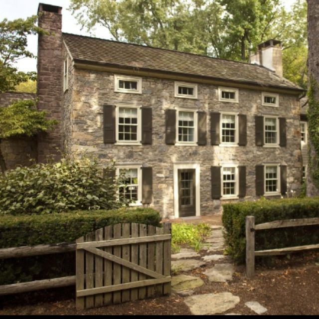 House tour bucks county american farmhouse early for Pennsylvania stone farmhouses