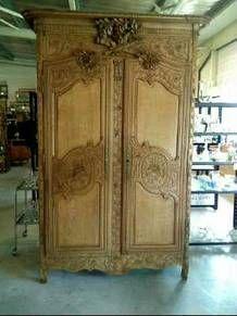 armoire cauchoise de mariage chene