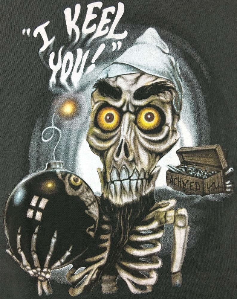 Achmed the dead terrorist i keel you l grey t shirt jeff for Achmed the dead terrorist halloween decoration