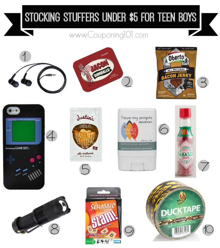 Christmas Gift Ideas Teenage Guys Part - 34: 10 Awesome Stocking Stuffer Ideas For Teen Boys -- All Under $5 Each!