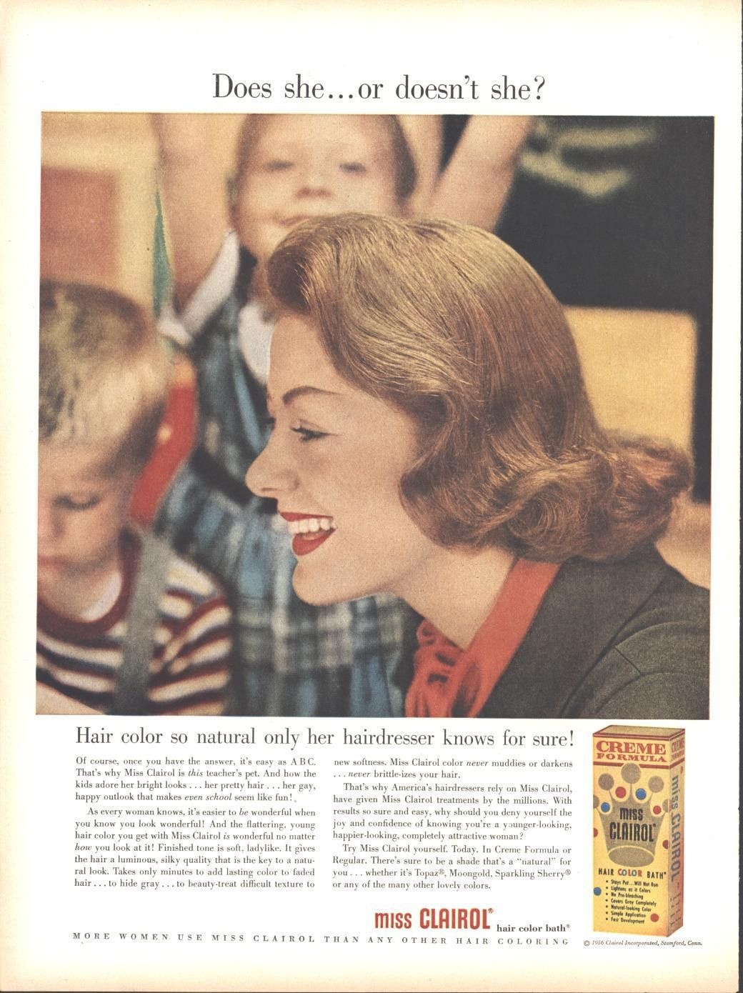 Miss Clairol Hair Color (Both Sides) Heublein Cordials Liqueurs Page LIFE November 19 1956