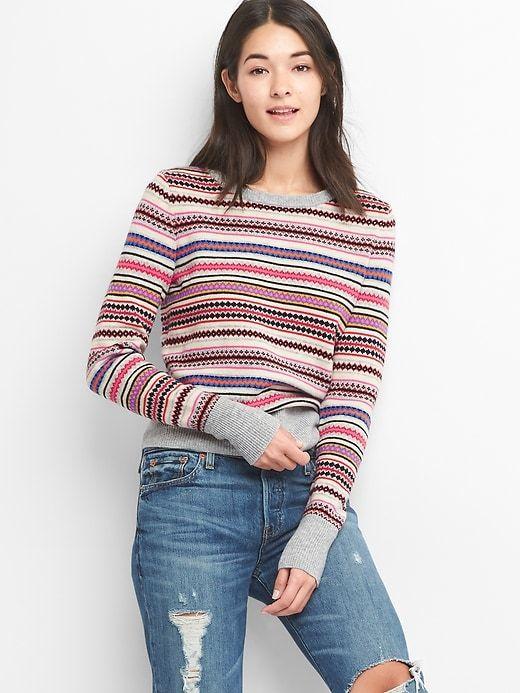 Gap Fair isle crewneck sweater | Crewneck sweaters, Fair isles and ...