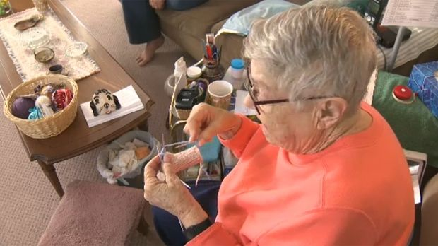 Calgary knitter has created hundred of mittens for children in need in Calgary and around the globe