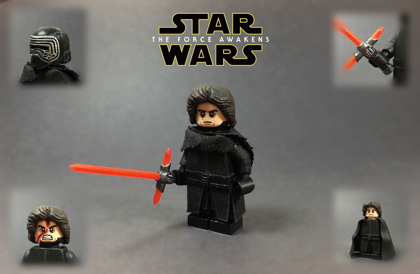 Custom Lego Star Wars The Force Awakens Kylo Ren Lego Star Wars