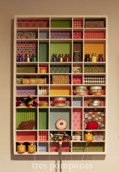 Organização e decoração de estantes Fundo Estampado