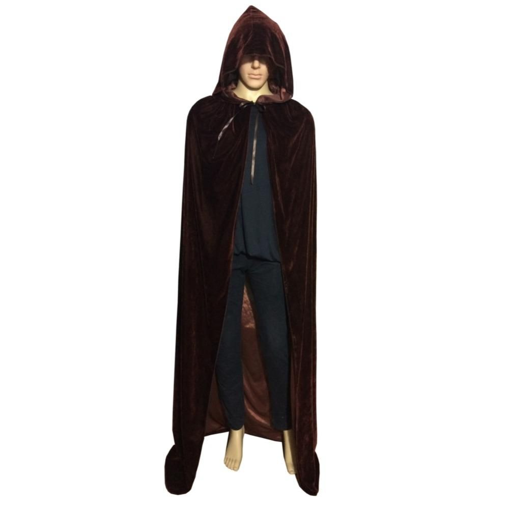 Medieval Renaissance Hooded Cloak Women Cosplay Costume Cotton Long Cape Newest