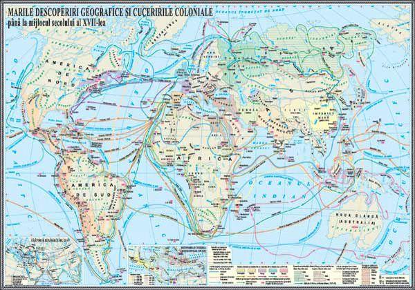 Harta Marile Descoperiri Geografice Geografie Schiță și Istorie