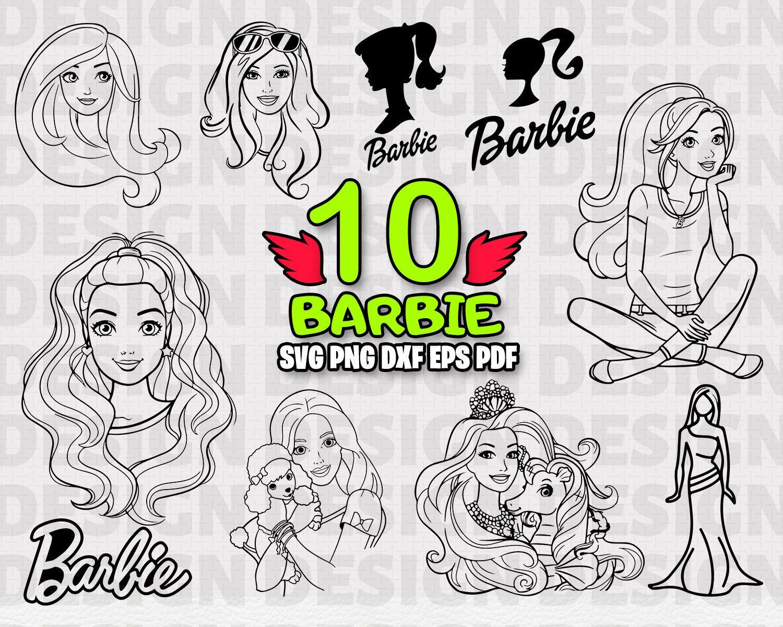 Barbie Svg Barbie Svg Barbie Silhouette Barbie Clipart Barbie Vector Svg Files Girl Svg Barbie Logo Svg Disney Silhouette Svg Disney Etsy Barbie Logo