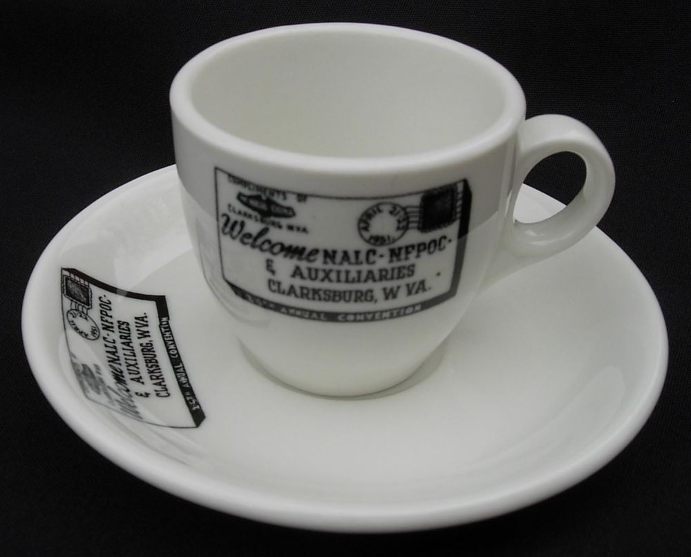 National Assn Of Letter Carriers 1951 Union Convention Mcnicol Clarksburg Wv Clarksburg Collectible China Lettering