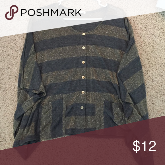 Striped button down! Flowy top. Perfect condition Tops Blouses