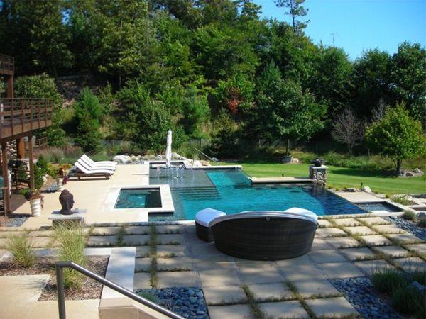 101 bilder von pool im garten contemporary swimming pool. Black Bedroom Furniture Sets. Home Design Ideas