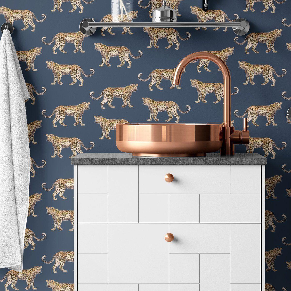 Cheetahs Peel & Stick Wallpaper Bathroom wallpaper