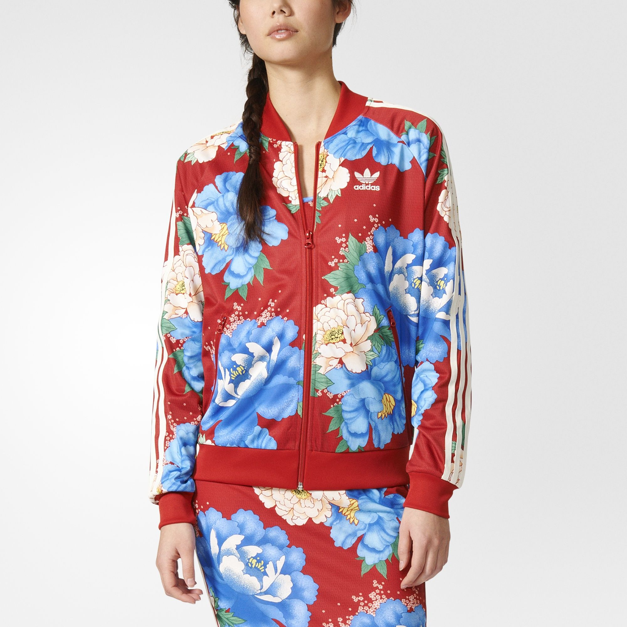 Equally Inspired By Nature Asian Art And Island Time This Collaboration With Brazilian Label The Farm Compan Adidas Track Jacket Sporty Outfits Track Jackets [ 2000 x 2000 Pixel ]
