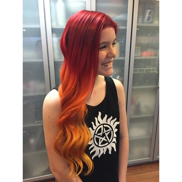 Phoenix Ombre by Tracey Hudson at Classic Hair Modern Salon ❤ liked on Polyvore featuring hair