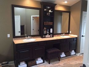 master bath redo wood staining general finishes java, bathroom ideas, diy, flooring, repurposing upcycling, tile flooring