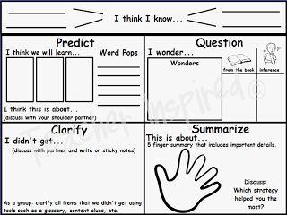 reciprocal teaching worksheet - Google Search   Classroom ...