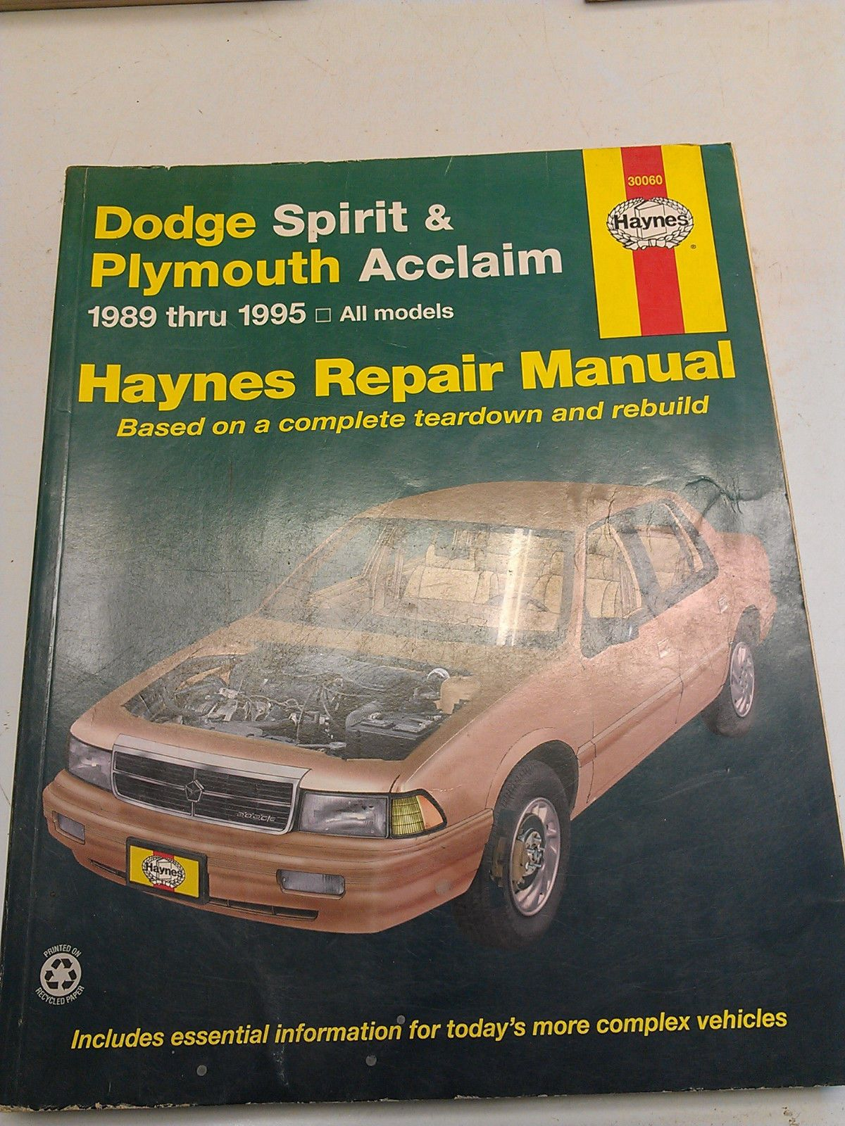 Manualspro On Repair Manuals Dodge Spirit Repair