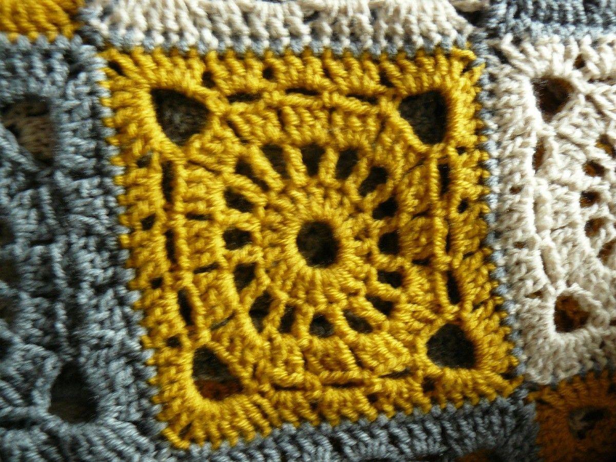 faire un plaid au crochet tricot plaid au crochet. Black Bedroom Furniture Sets. Home Design Ideas