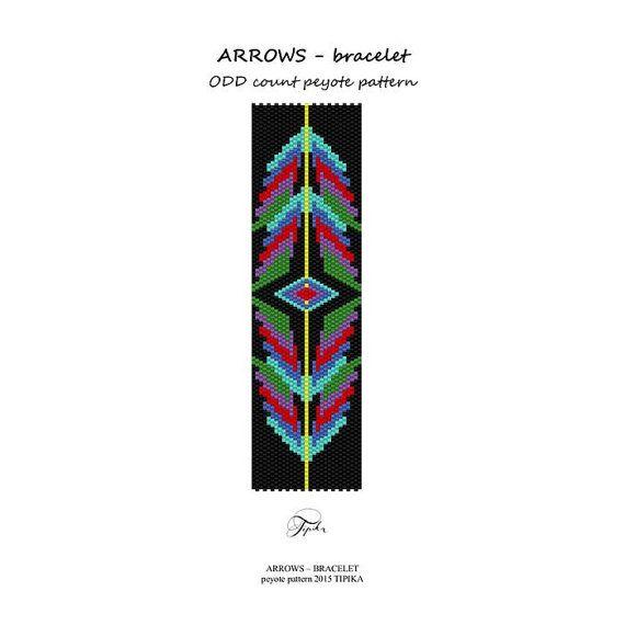 peyote pattern beadwork arrows peyote bracelet por tipikabeadwork