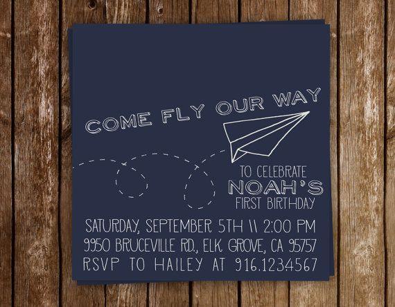 Paper Plane Invitation Paper Airplane Invite Paper Airplane – Party Invitation Paper