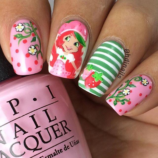 Strawberry Shortcake Nail Art Mani Pedi Instagram Posts