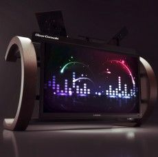 """ClearConsole™ C 66"""" LCD DJ Stand"""