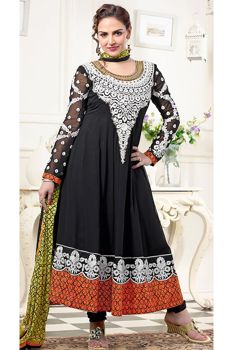 Latest long anarkali party wear salwar kameez latest party wear