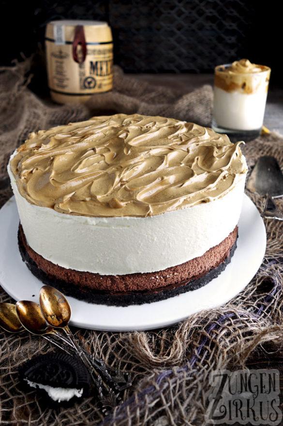 Dalgona-Torte mit weißer Schokomousse - Zungenzirkus