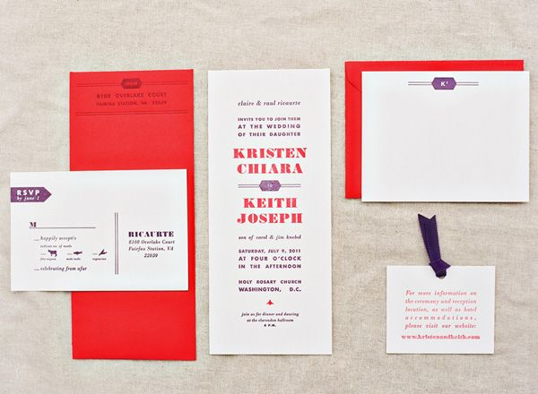 Red and purple invites!