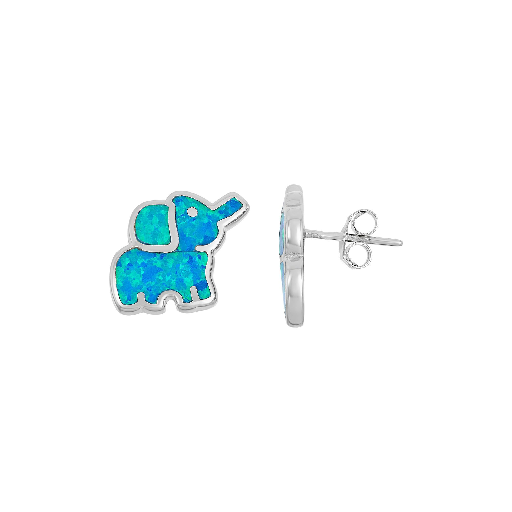 lumo opal stud earrings studs products blue wb