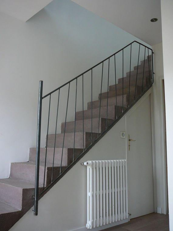 rampe d 39 escalier entr e pinterest rampes escaliers et escalier en beton. Black Bedroom Furniture Sets. Home Design Ideas