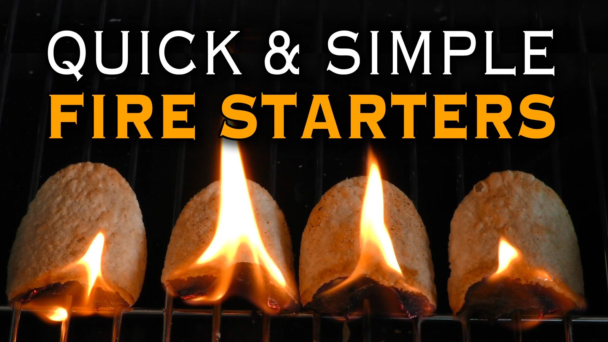How To Start A Fire With Household Items Fire Starters Diy Fire
