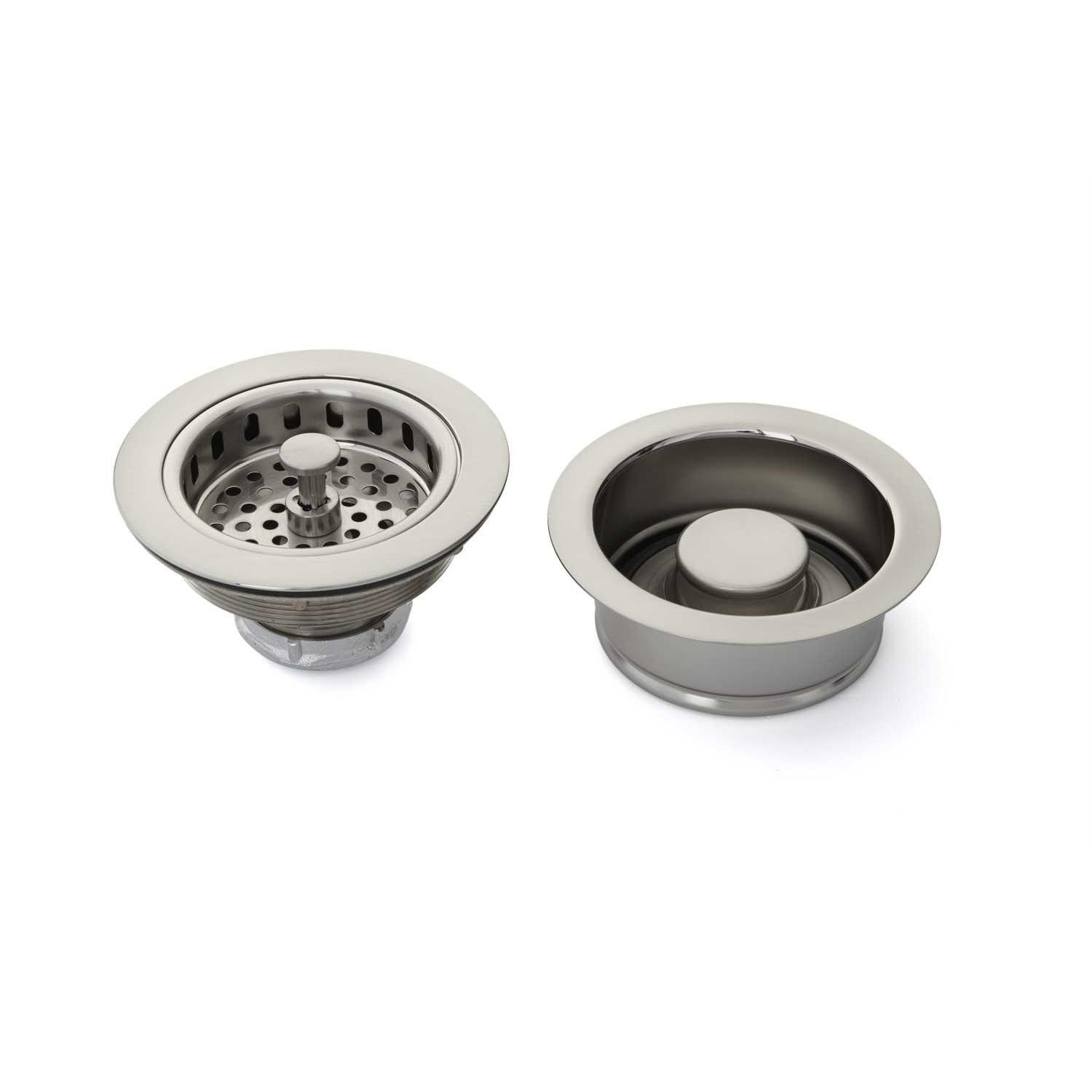Picture Gallery For Website Kitchen Sink Drain Set Basket Strainer u Disposer Flange and Stopper