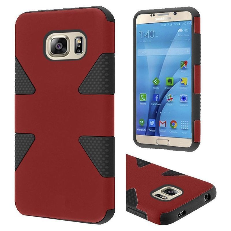 Insten Dynamic Hard PC/ Silicone Dual Layer Hybrid Rubberized Matte Case Cover For Samsung Galaxy S7