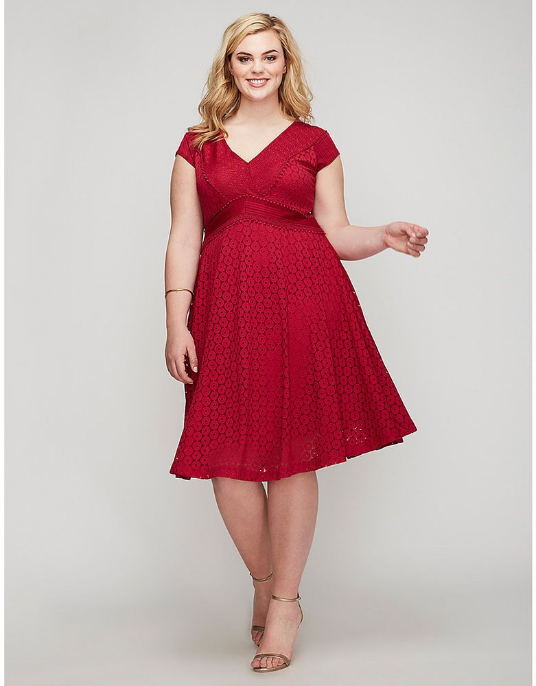 6278c94e21 NEW LANE BRYANT PLUS SIZE RED DETAILED LACE FIT   FLARE DRESS SZ 26   fashion  clothing  shoes  accessories  womensclothing  dresses (ebay link)