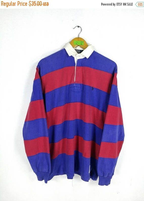341e2c86f6 Vintage POLO RALPH LAUREN Shirt Mens Medium Ralph Lauren 90's ...