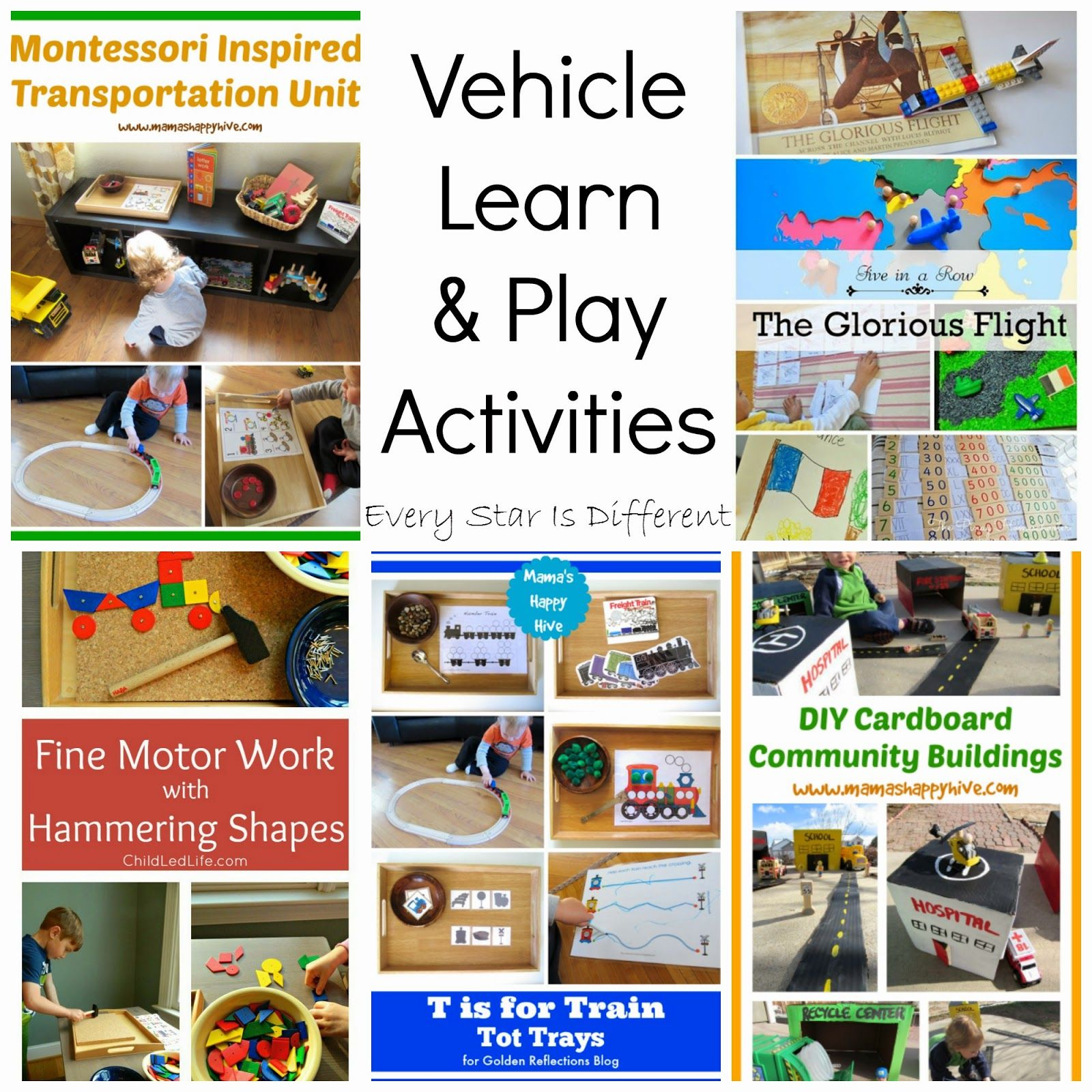 Tot School - Transportation Unit ~ Learn Play Imagine