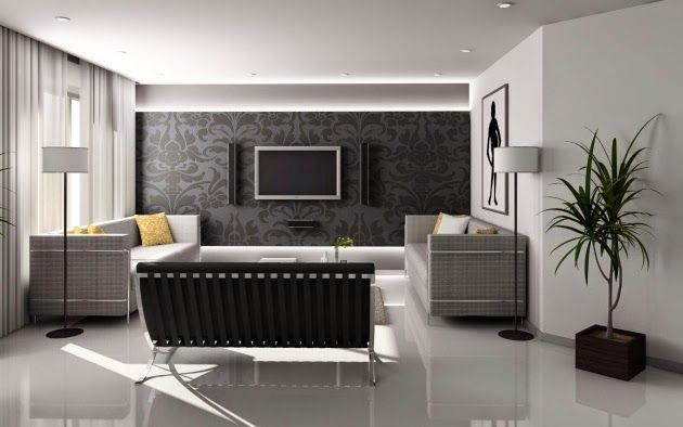 Elegant Gray White Wall Color Combinations For Living Room