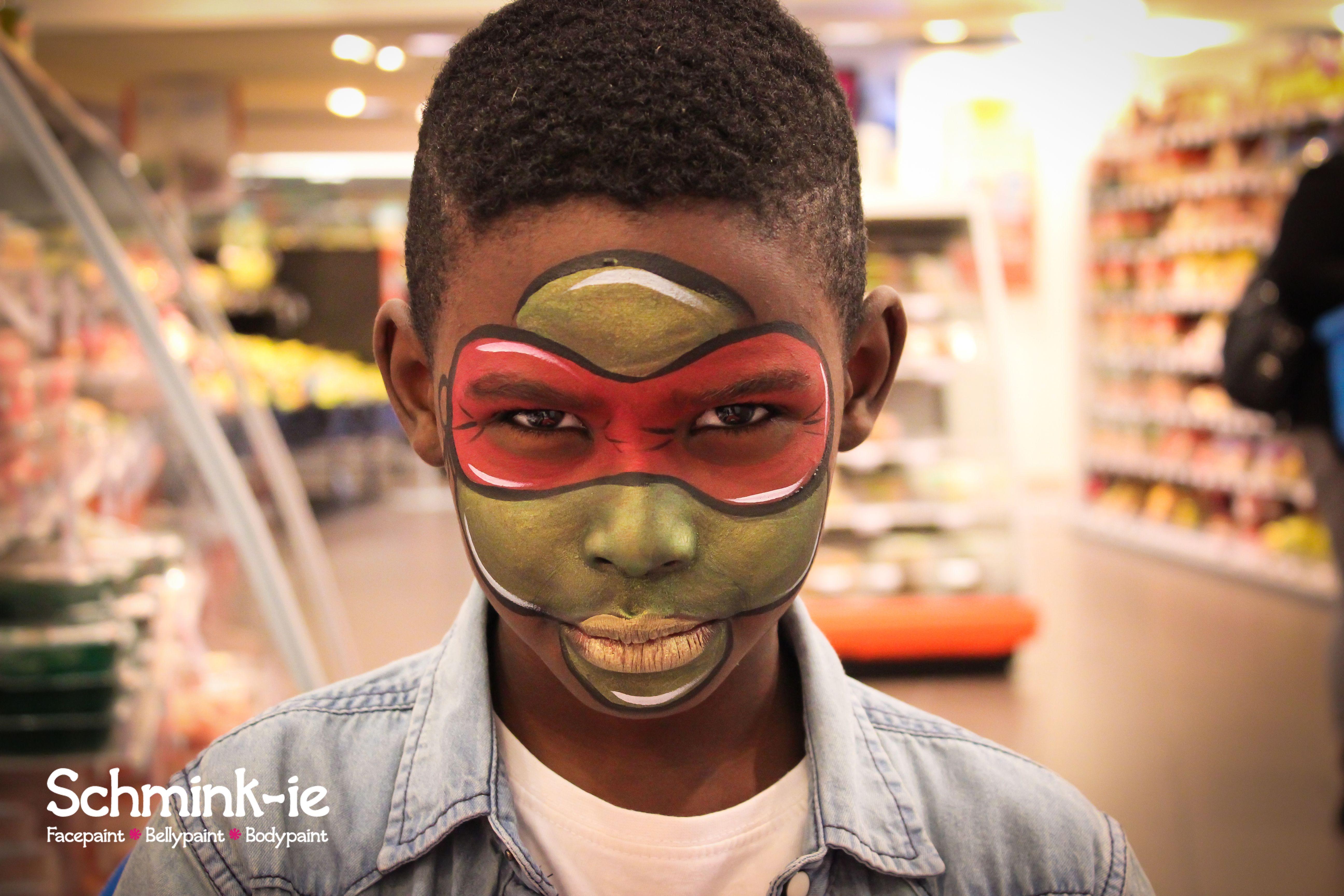 Teenage mutant ninja turtle face paint! | Ninja turtle ...