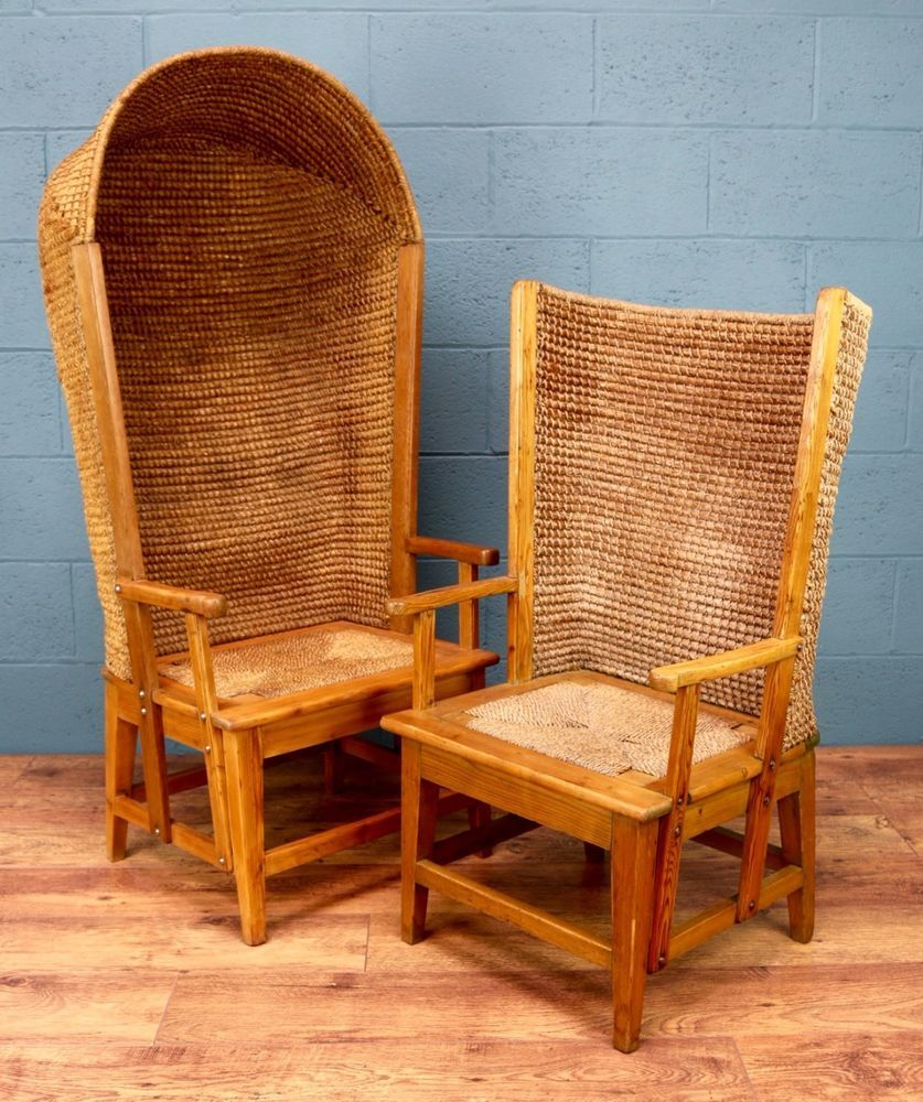 Details about Rare pair of matching Orkney chairs, Arts ...