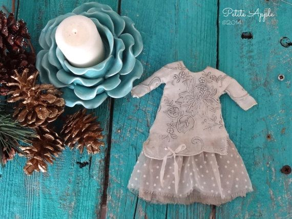Blythe doll outfit Snow on Christmas day by PetiteAppleShop