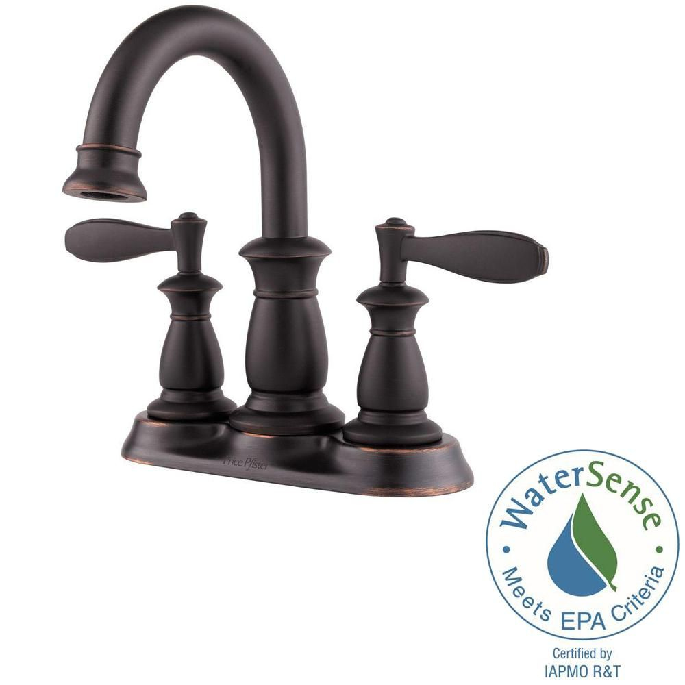Pfister Langston 4 In Centerset 2 Handle Bathroom Faucet In